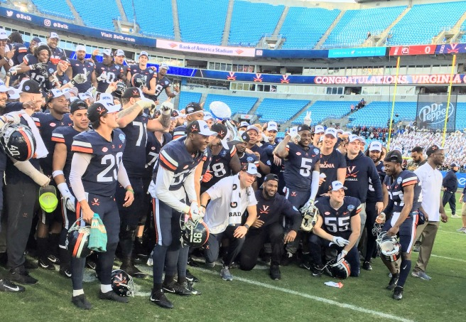 virginia football belk bowl winners bank of america stadium