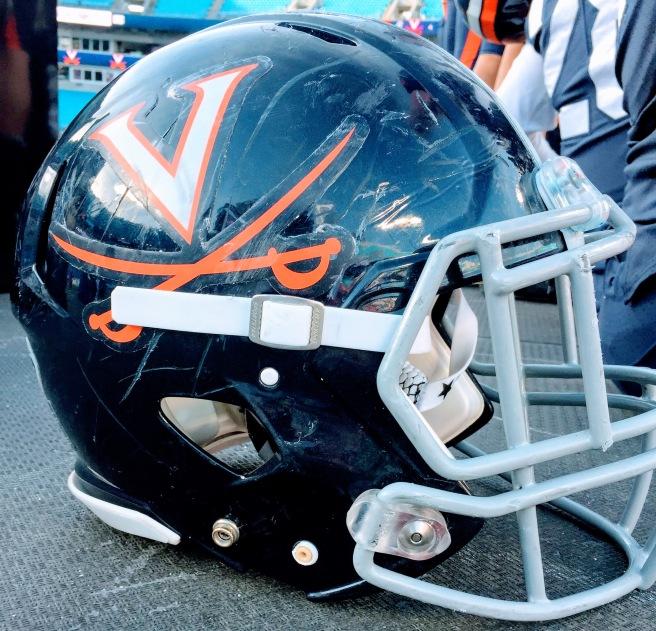 virginia helmet belk bowl winners bank of america stadium