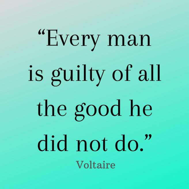 voltaire quote guilt
