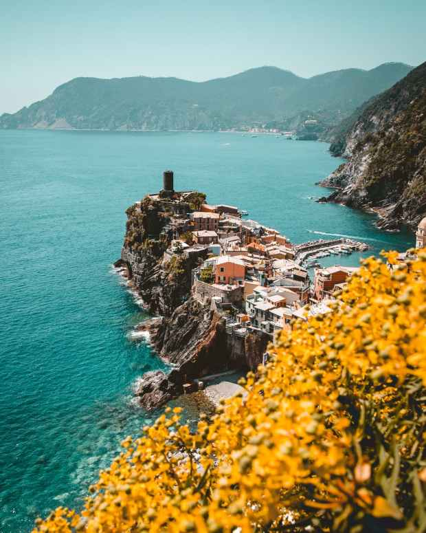aerial photography of cinque terre in greece