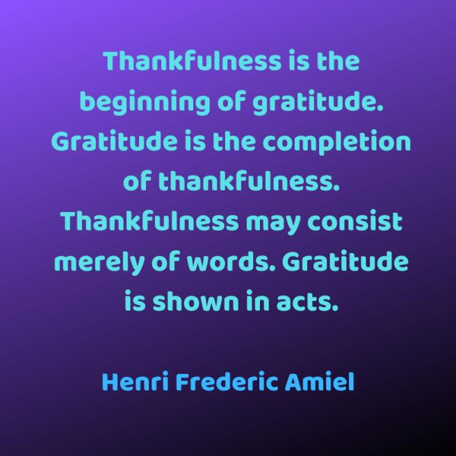 Amiel quote gratitude