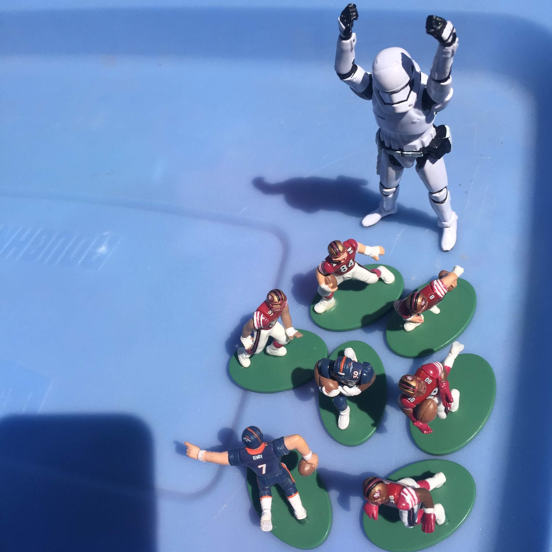stormtrooper football weekend 49ers broncos driveway
