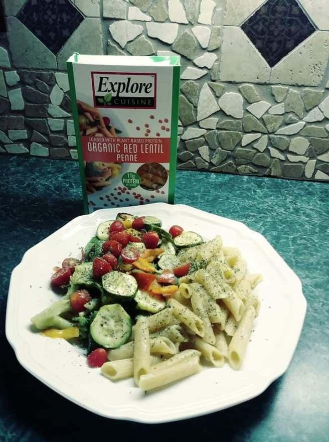 GH HN explore cuisine organic red lentil penne