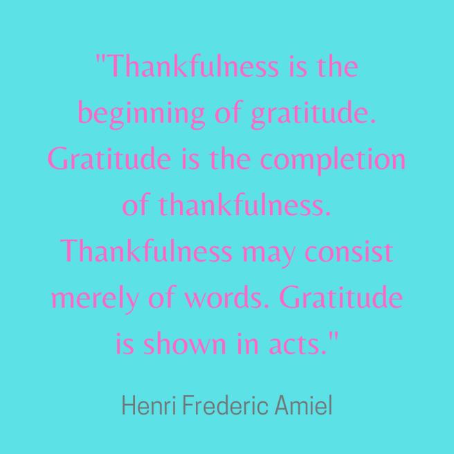 gratitude quote amiel